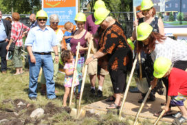 Members at sod turning 11082016